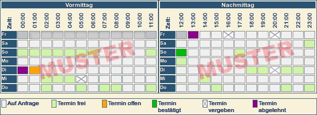 Rückruf Kalender Muster